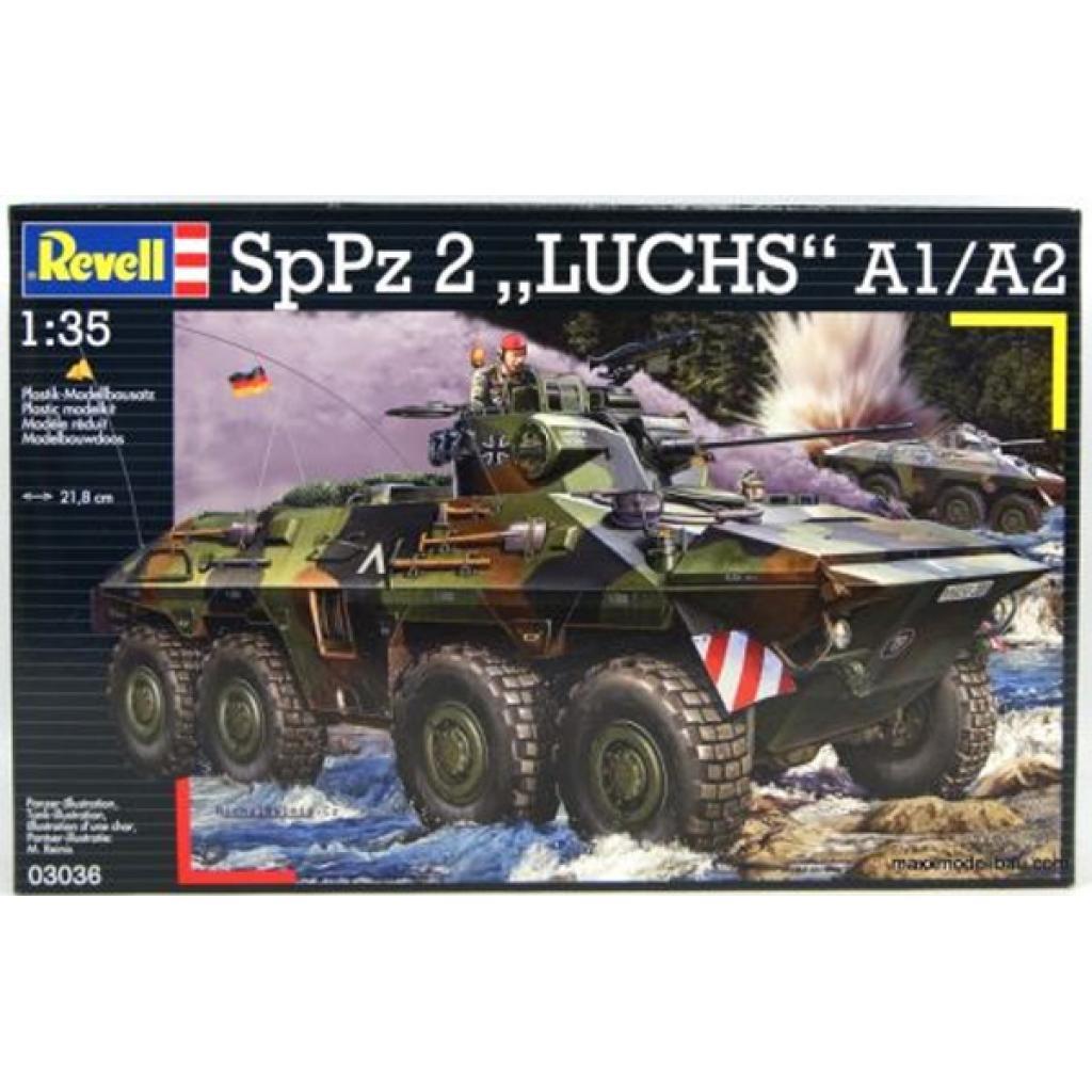 revell Revell 4-й уровень.Бронетранспортер (1975г.,Германия) SpPz 2 Luchs A1/A2;1:35 (3036)