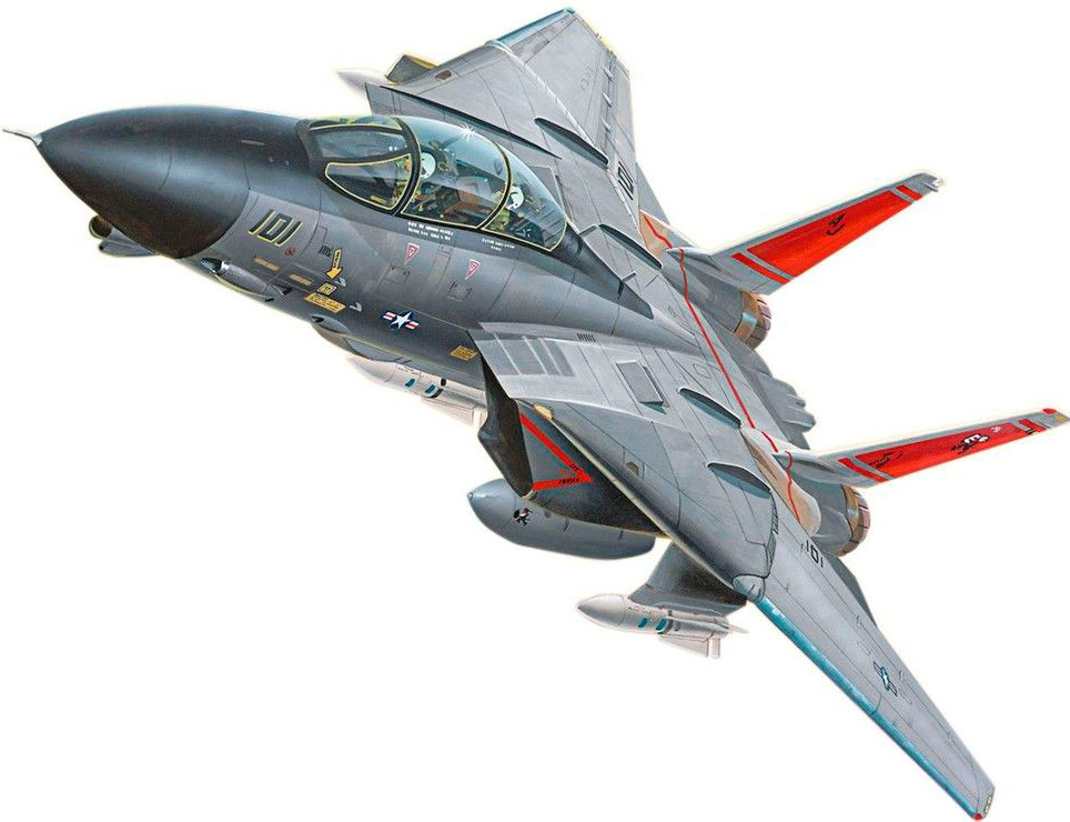 revell Revell 2-й уровень.Easy Kit.Самолет (1972г.,США) F-14 Tomcat;1:100;8+ (6623)