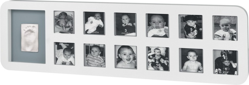 baby art Baby Art First Year Print Frame white & grey (34120085)
