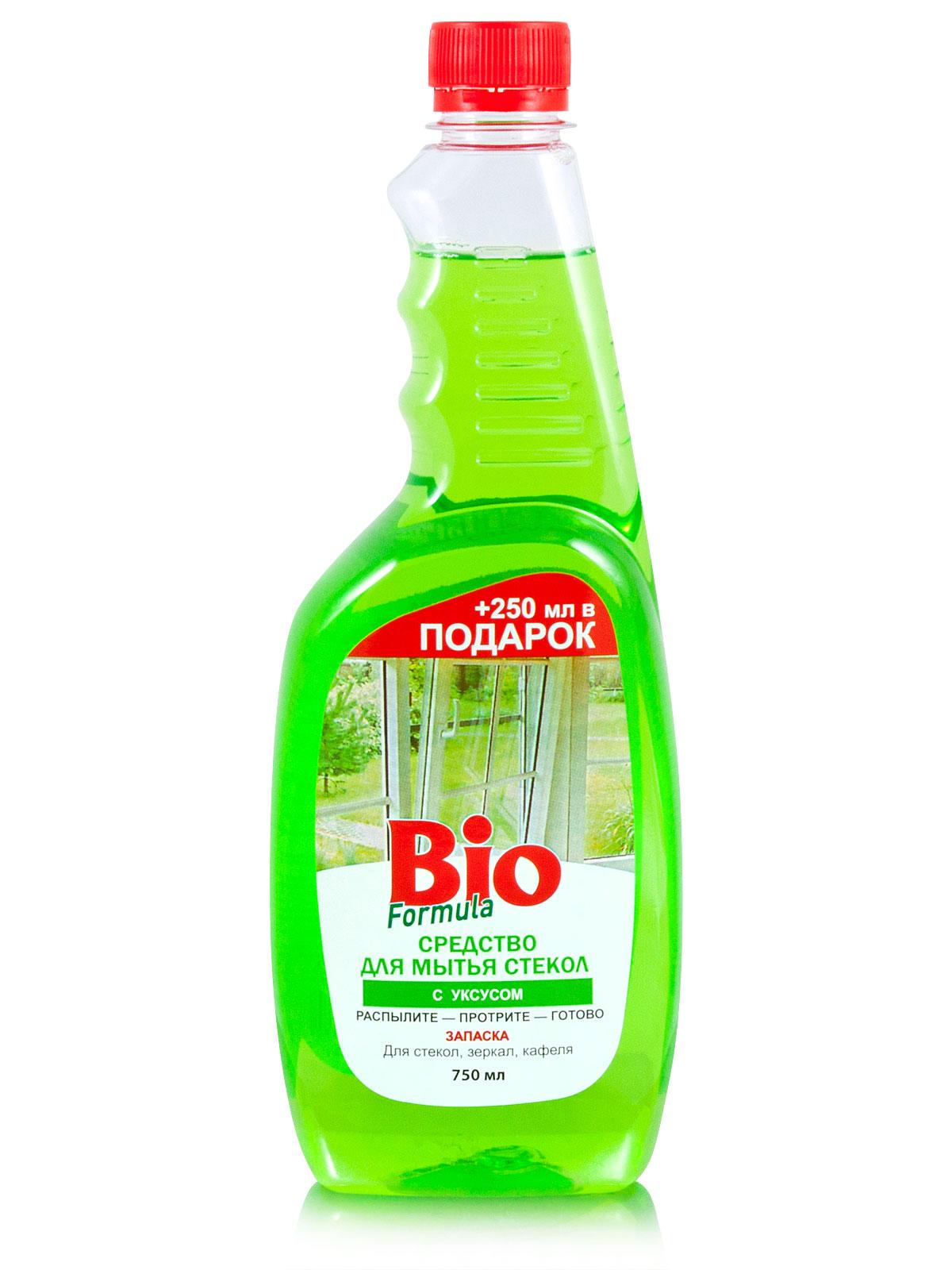 bio BIO Formula Для мытья стекол с уксусом (запаска) 750мл (4823015925870)