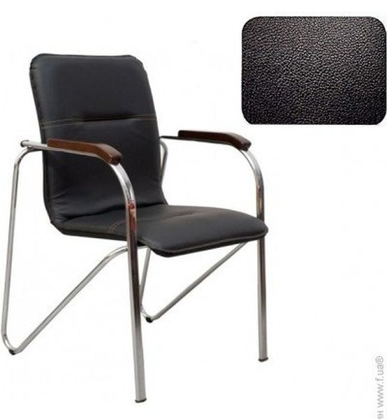 art metal furniture (amf) AMF Самба хром орех Скаден черный без канта (12540)