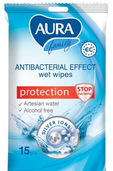 aura AURA Family антибактериальные 15шт (4751023291710)